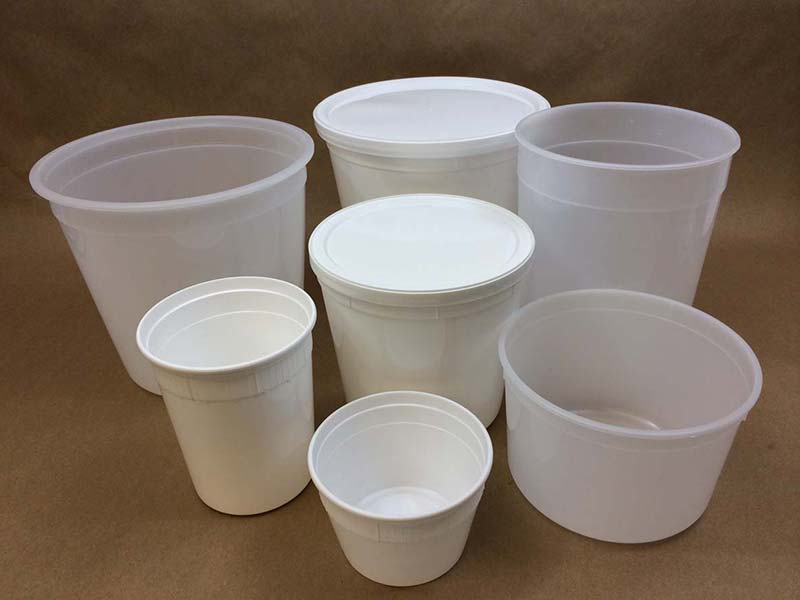 Food Packaging - Polyprop Plastic Tubs & Lids