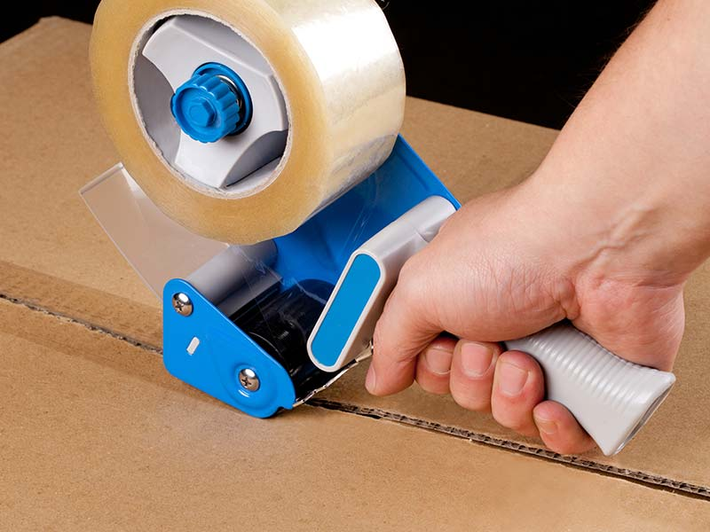 Packaging Buff, Clear, PVC Tape & Dispensers